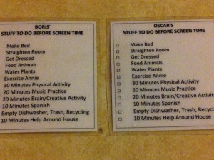 Screen Time Checklist